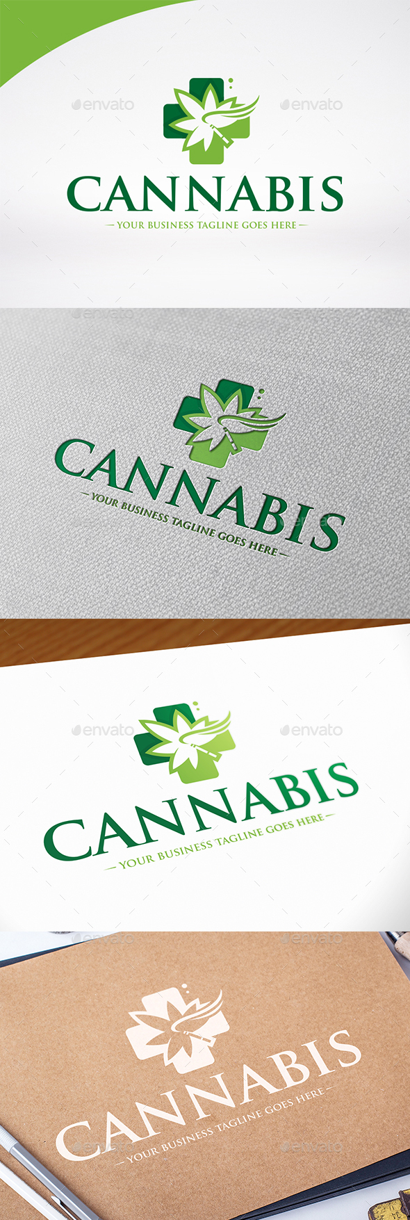 Medical Marijuana Logo Template - Nature Logo Templates