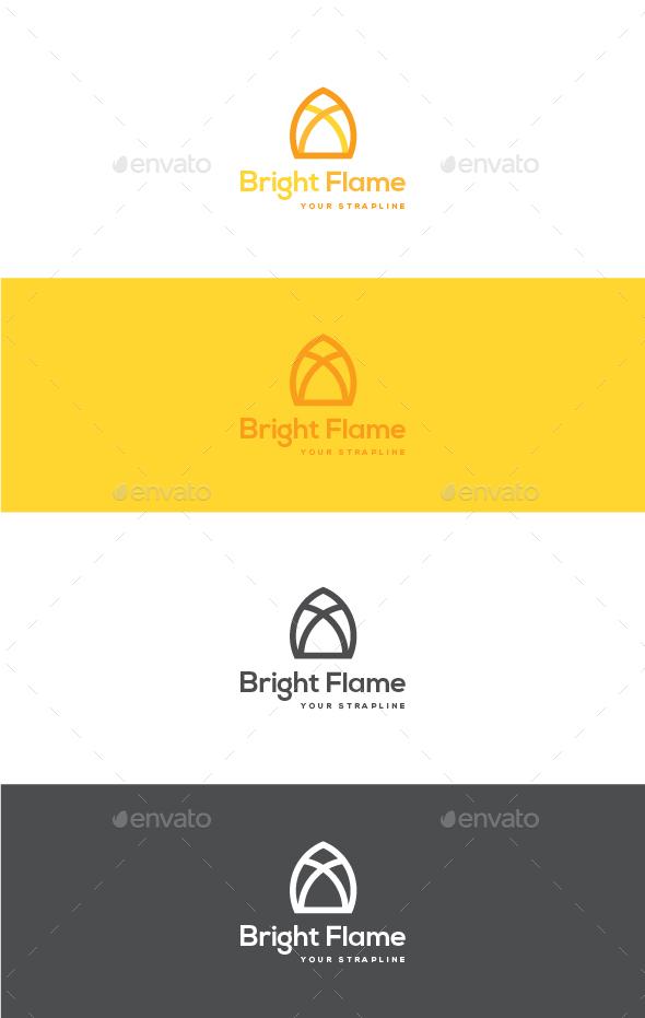 Bright Flame Logo - Symbols Logo Templates