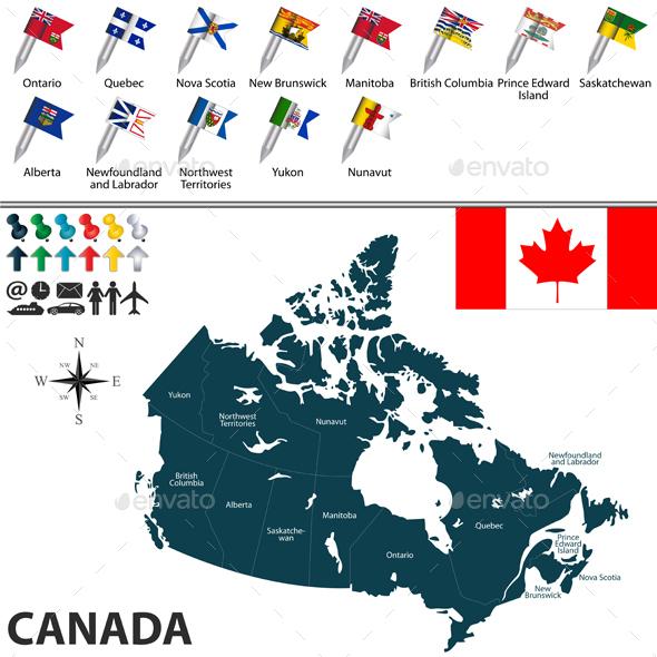 Map of Canada - Travel Conceptual