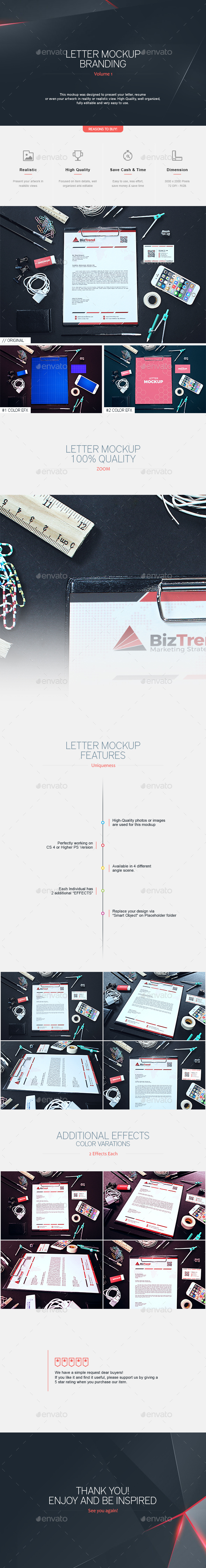 Letter Mock-up Branding V.1 - Stationery Print