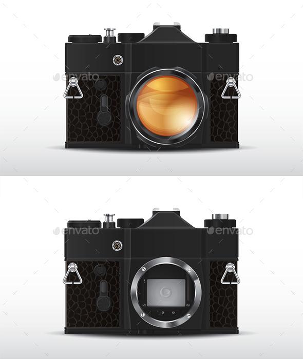 Retro Film SLR Camera  - Retro Technology