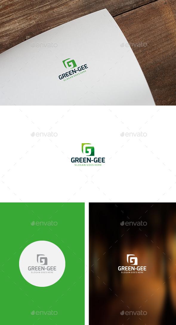 G Green Letter Logo - Nature Logo Templates