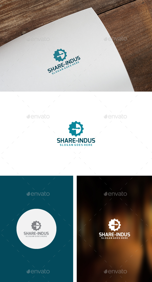 Gear Share Logo - Symbols Logo Templates