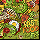2 Fast Food Doodles Backgrounds - GraphicRiver Item for Sale