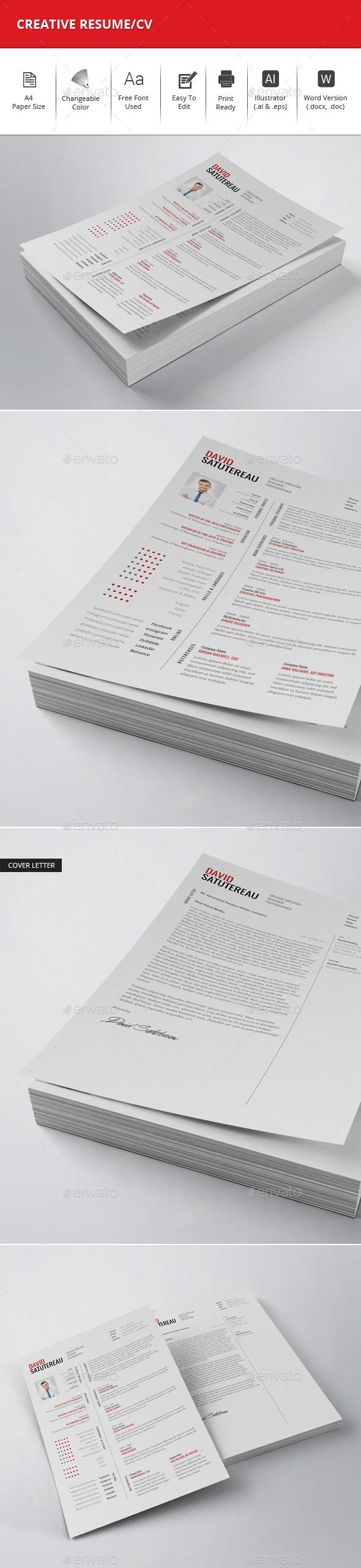 Creative Resume/CV - Resumes Stationery