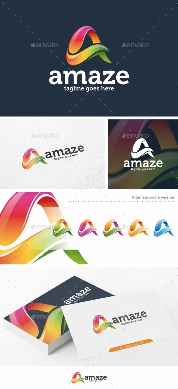 Letter A - Logo Template - Letters Logo Templates