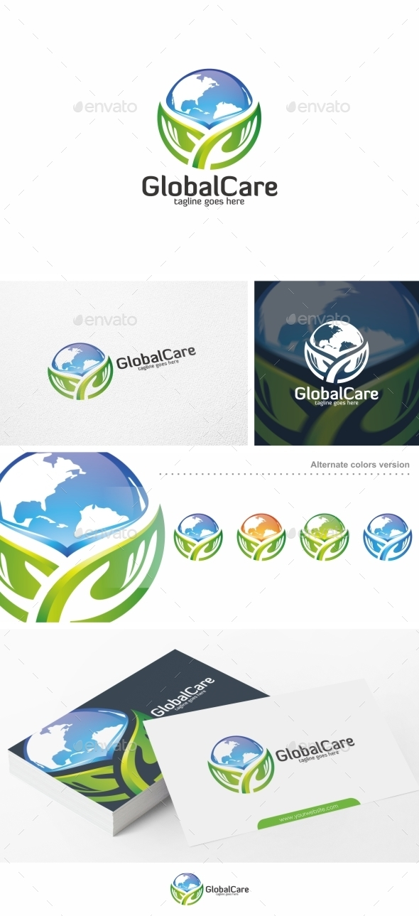 Global Care / Globe - Logo Template - Objects Logo Templates