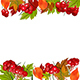 Autumn Background With Viburnum and Leaves - GraphicRiver Item for Sale