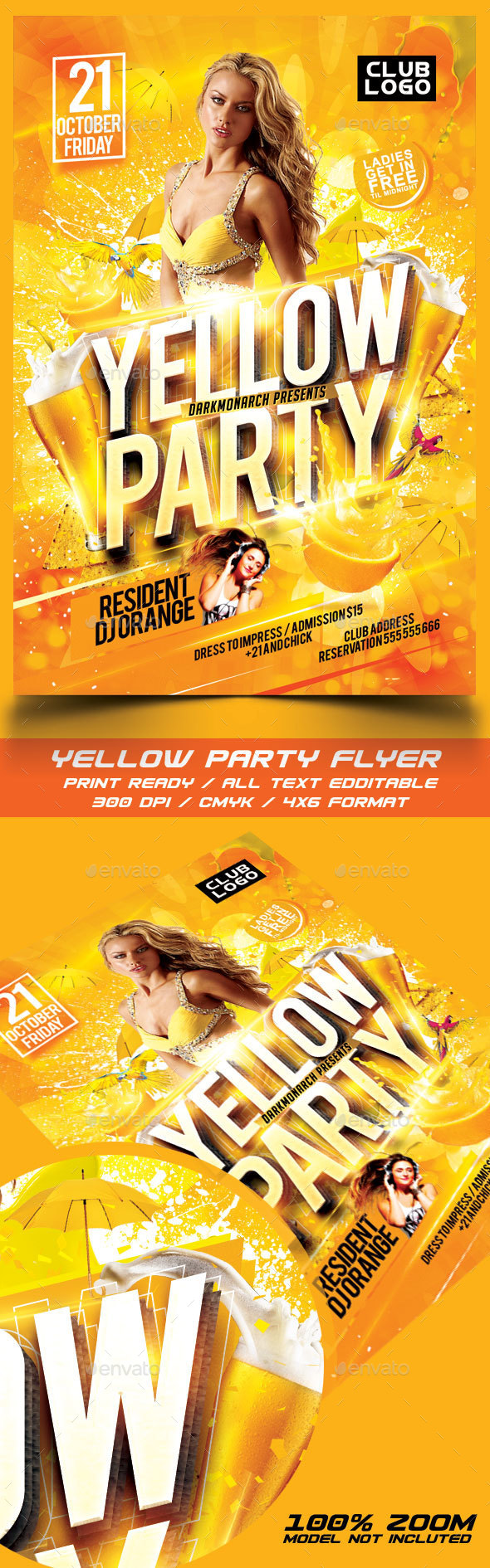 Yellow Party Flyer - Events Flyers