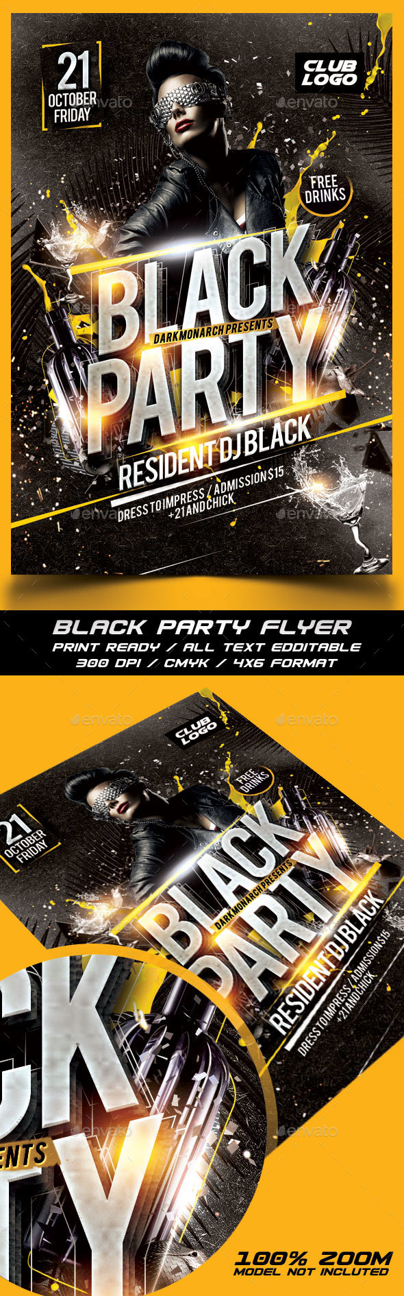 Black Party Flyer - Events Flyers