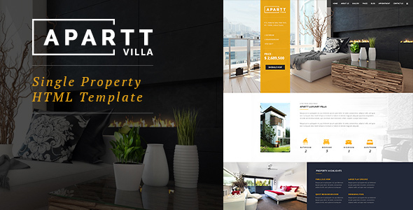 APART VILLA- Single Property HTML Template