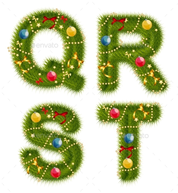 Abstract Beauty Christmas And New Year Abc. Vector - Objects Vectors