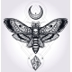 Deaths Head Hawk Moth With Moons And Stones.  - GraphicRiver Item for Sale