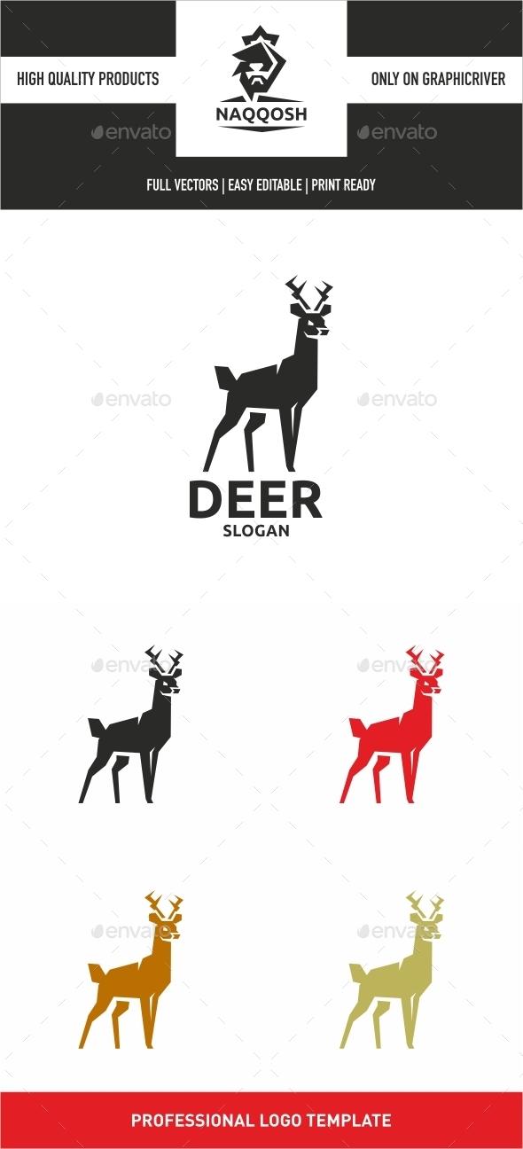 Deer - Animals Logo Templates