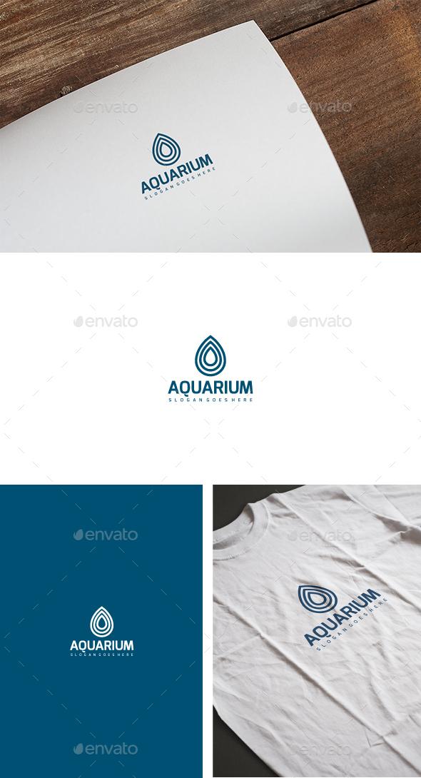 Aquarium Drop Logo - Nature Logo Templates