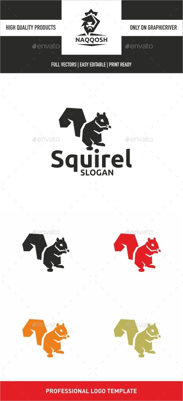 Squirel - Animals Logo Templates