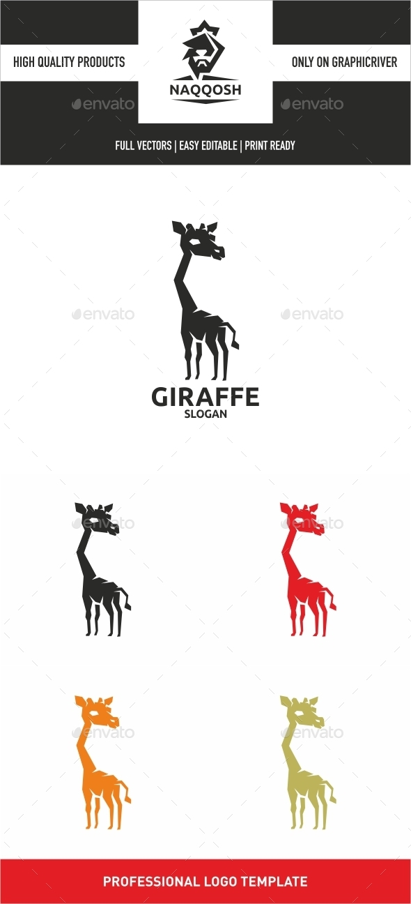 Giraffe - Animals Logo Templates