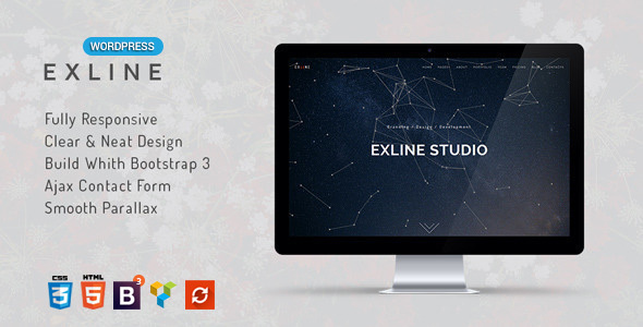 Exline | One Page Multipurpose WordPress Theme