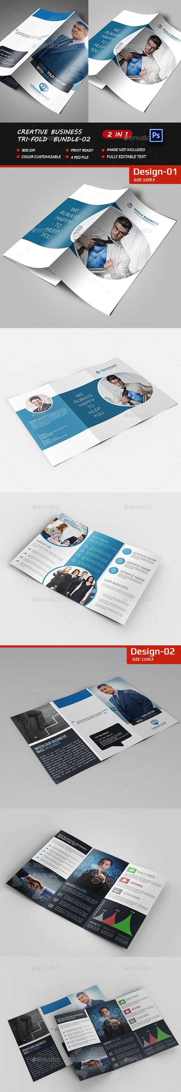 Corporate Business Tri-fold-Bundle-02 - Brochures Print Templates