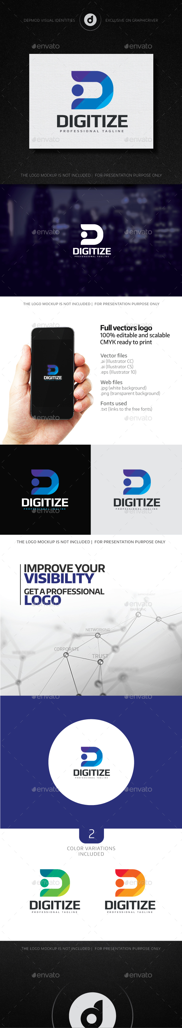 Digitize Logo - Letters Logo Templates
