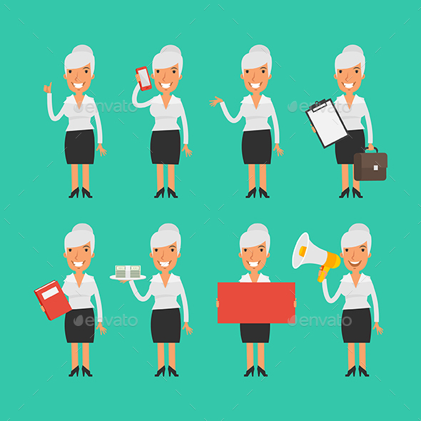 Old Business Woman - People Characters