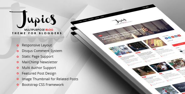 Jupios – Responsive Ghost Blog Theme