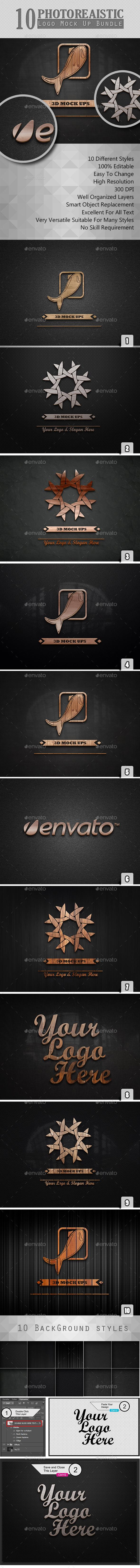 Photorealistic Logo Mock Ups Set 2 - Logo Product Mock-Ups