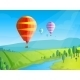Landscape with Balloons - GraphicRiver Item for Sale