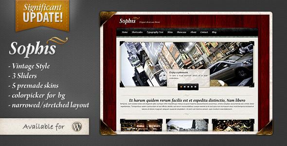 sophis elegant theme portfolio for sale