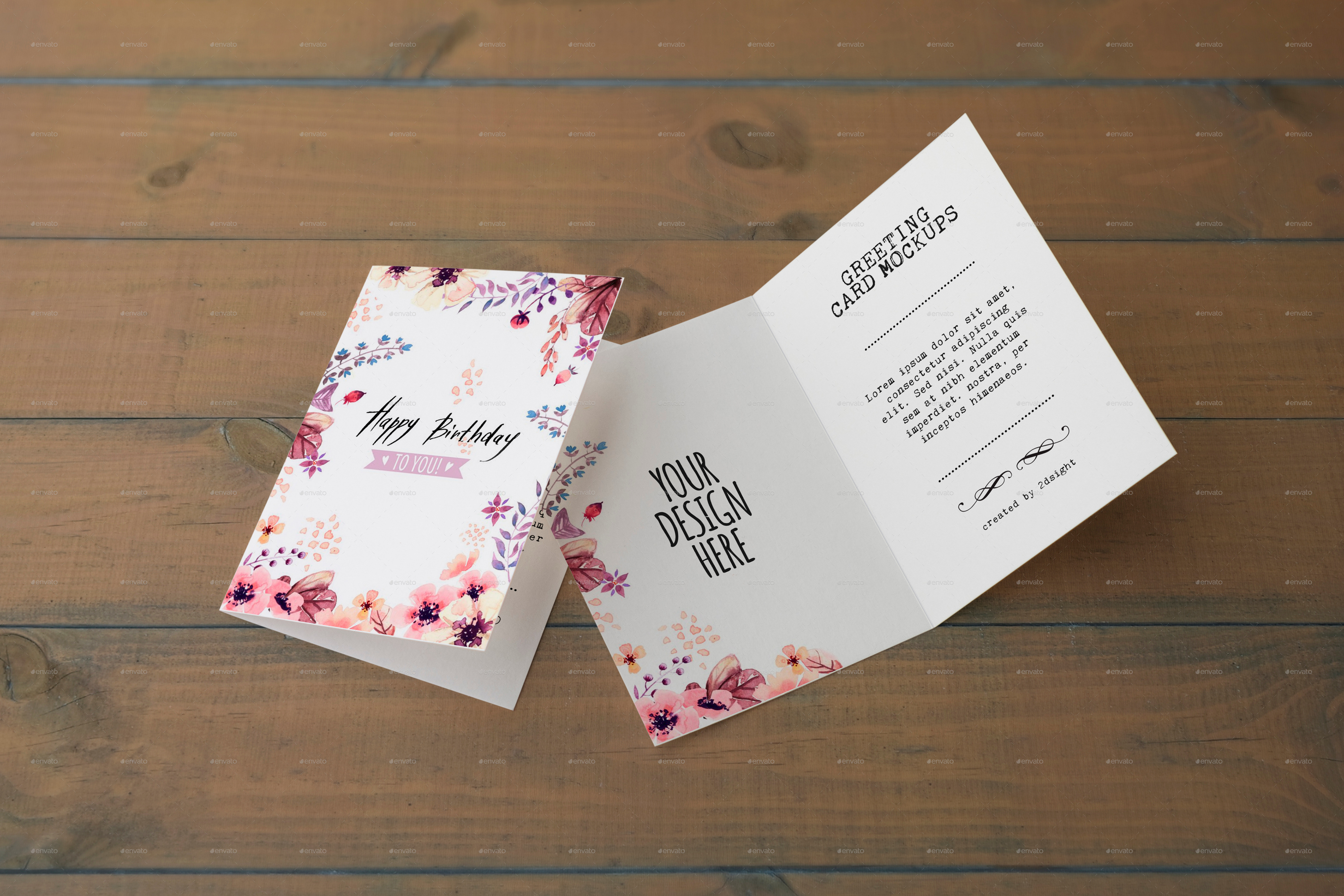 Invitation Greeting Card Mockups By 2dsight Graphicriver