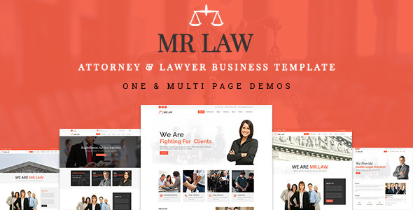 MrLaw- Attorney & Lawyer Business Template