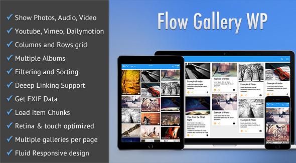 Flow Gallery – Multimedia Gallery WordPress Plugin