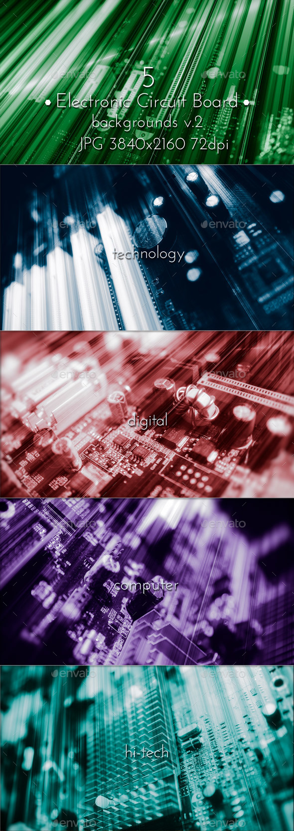 Computer Electronic Circuit Board - Tech / Futuristic Backgrounds