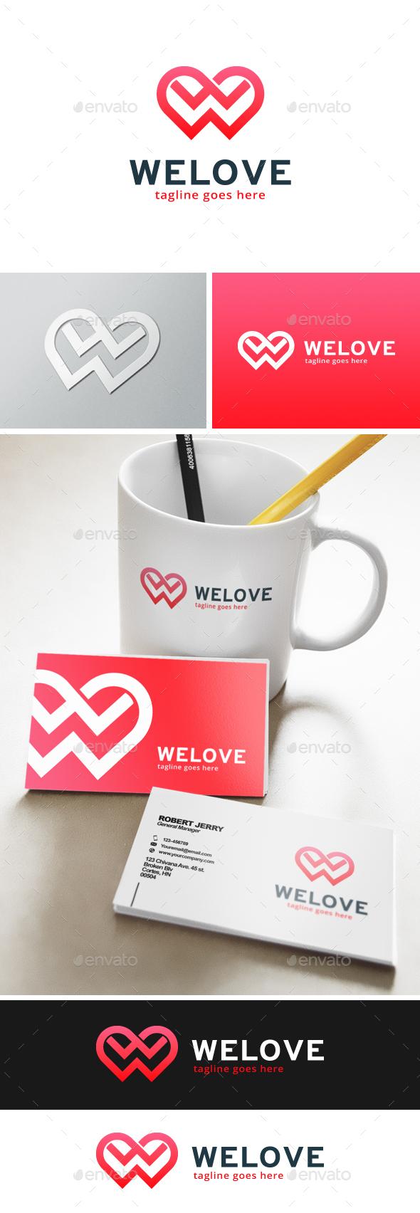 Welove Letter W Logo - Letters Logo Templates