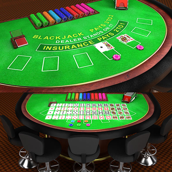 BlackJack Table - 3DOcean Item for Sale