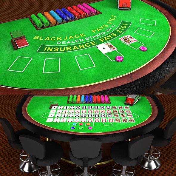 BlackJack Table - 3DOcean Item for Sale