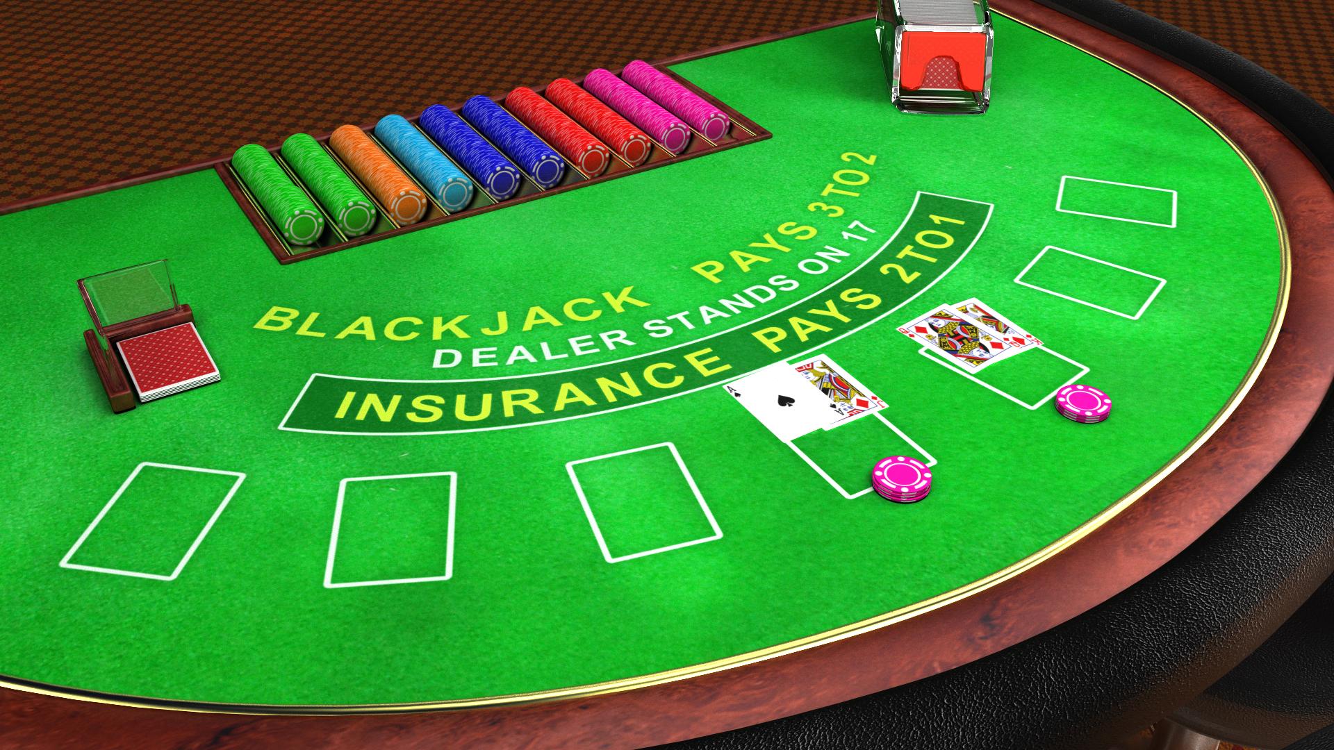 Blackjack table top view - Blackjack Table