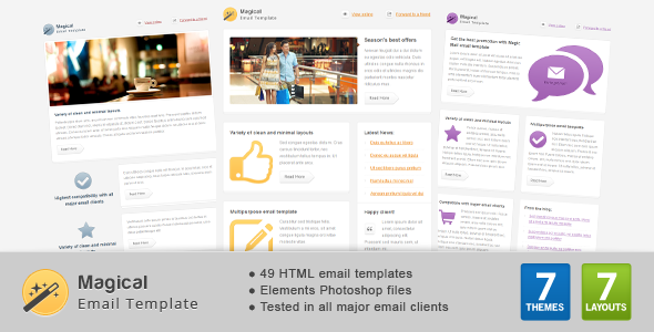 magical email template by gifky themeforest. Black Bedroom Furniture Sets. Home Design Ideas