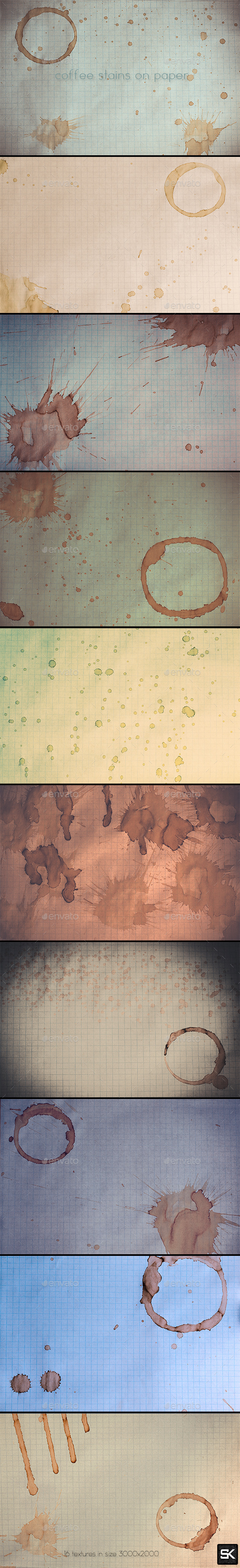 Coffee Stains On Paper - Paper Textures