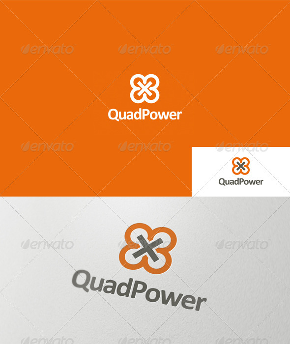 Quad Power Logo - Symbols Logo Templates