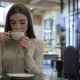 Attractive Girl Holding a Cup Of Coffee - VideoHive Item for Sale