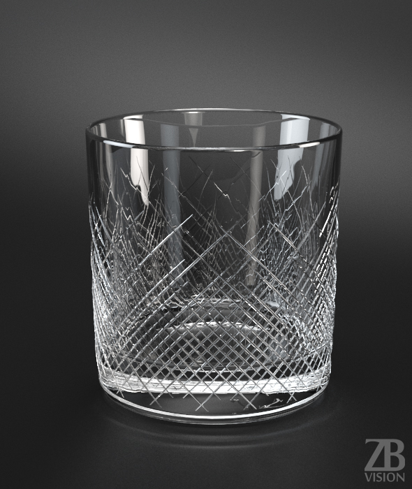 Whisky Large Glass - 3DOcean Item for Sale