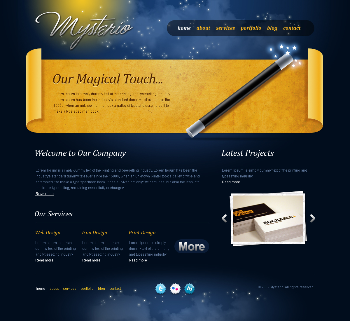 Free Download Mysterio - The Fantasy Template Nulled Latest Version