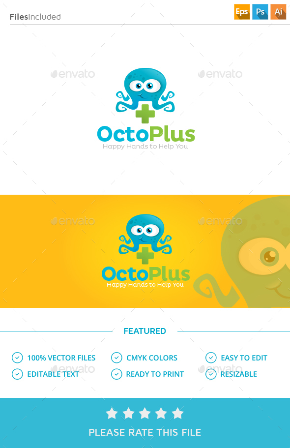 Medical Octopus Logo - Vector Abstract