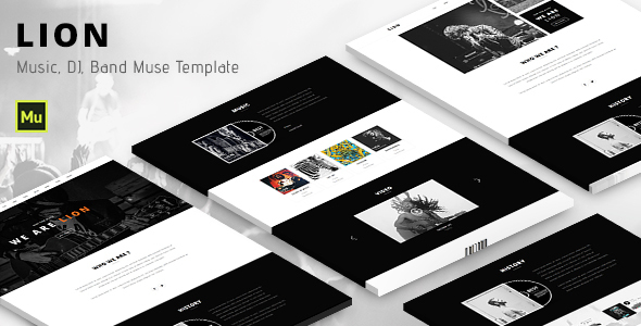 Lion – Music, DJ, Band Muse template