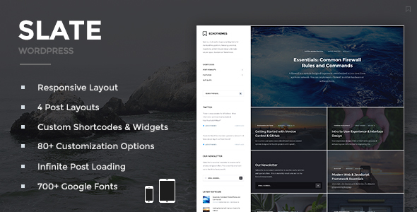 Slate – Responsive WordPress Blog Theme