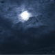 Moon Behind Moving Clouds at Night - VideoHive Item for Sale