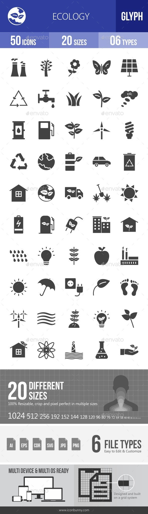 Ecology Glyph Icons - Icons