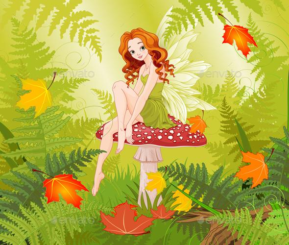 Mushroom Fairy - People Characters