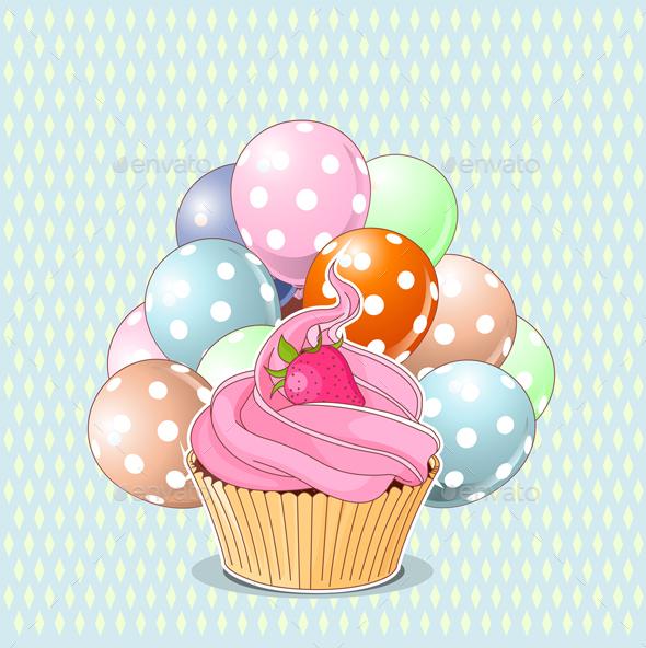 Birthday Cupcake - Birthdays Seasons/Holidays
